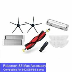 Roborock Cleaner Vacuum Mop Main Brush Silicon Side Filters S50 S6 S5 Max S4 E4
