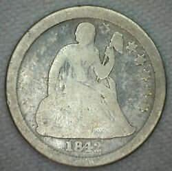 1842 O Silver Seated Liberty Dime Ten Cents 10c Us Silver Coin Good New Orleans