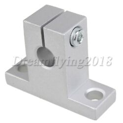 4pieces Silver Grey Sk8 Linear Rail Support Guide Shaft Bearing 8mm Inner Dia