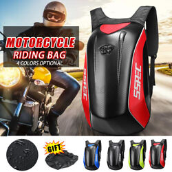 SSPEC Motorcycle Backpack Racing Riding Carbon Fiber Hard Shell Bag With Cover $55.34