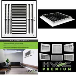 12w X 12h Never Rust Plastic 4-way Air Supply Register - Hvac Vent Duct Grille