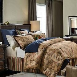 Hiend Accents Tammy Western Bedding Comforter Set, Super King, Tan And Multi-color