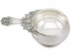 Antique George V Sterling Silver Quaich Style Bowl By Reid And Sons 1920s