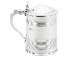 Antique George Iv Sterling Silver Half Pint Tankard 1820s