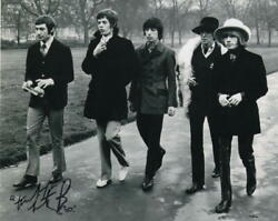 Charlie Watts Signed Autograph 8x10 Photo - Classic Rolling Stones Group Shot