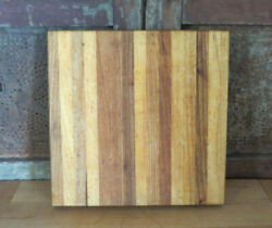 Primitive Wooden Butcher Block Style Oak Maple Wood Cutting Board Nice Patina