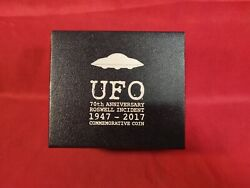 Ufo 70th Anniversary Roswell Incident 1947-2017 Commemorative Sliver Coin