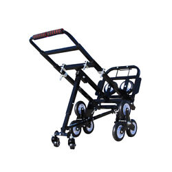Usstock Portable Stair Climbing Folding Cart Climb Hand Truck With Backup Wheels