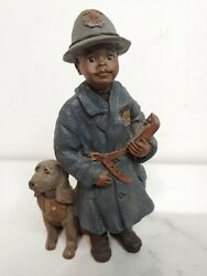 Sarahs Attic Bubba Policeman African American Police And Dog Limited Edition