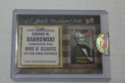 2020 The Bar Pieces Of The Past James Polk Jumbo Presidential Relic Card 1/1