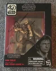 Harrison Ford Signed Autograph Star Wars Black Series Han Solo Figure Beckett
