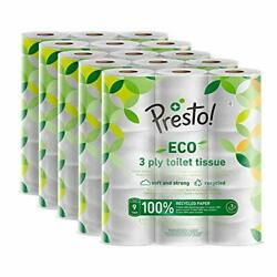 Brand - 3-ply Eco Toilet Tissues, 45 Rolls 5 X 9 X 200 Sheets