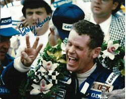 Bobby Unser Signed 8x10 Photo Indy Indianapolis 500 Car Racing Winner Al Ims B