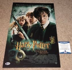 Daniel Radcliffe Signed 12x18 Movie Poster Photo Harry Potter Chamber Bas