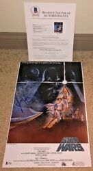 Harrison Ford Signed 12x18 Poster Photo Star Wars Iv A New Hope Han Solo Bas
