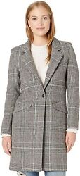 Cole Haan Womens Single Breast Classic Houndstooth Jacket