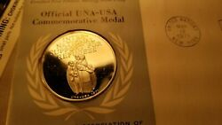 Un Sterling Silver 1971 Token And Stamp Set International Support For Refugees.