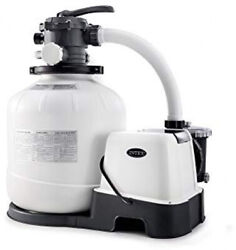 Intex Krystal Clear 2150 Gph Sand Filter Pump And Saltwater System With E.c.o.