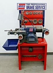 Nice Ammco 4000b Disc And Drum Brake Lathe W/ Bench And Adapter Kit