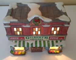 1992 Coca-cola Town Square Collection Gilbert's Grocery Christmas Village Lights