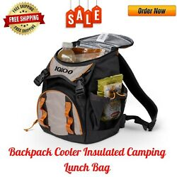 Backpack Cooler Insulated Camping Lunch Bag Picnic Food Cold Drink Beer Storage $29.75