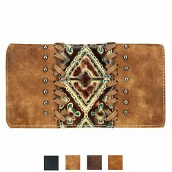 Genuine Leather Women#x27;s Wallet Clutch Wallets Credit Card Coin Bill Try Fold $44.95