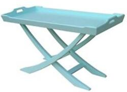 Trade Winds Chedi Coffee Table Cocktail Traditional Antique Tray Painted Aq
