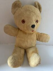 Rare Antique Guns Blonde Or Light Brown Teddy Bear With Tail 16