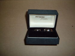 Womans And Mans 14k Solid White Gold Fg Wedding Rings Size 5.5 And 9.75 11.8 Gr Lot