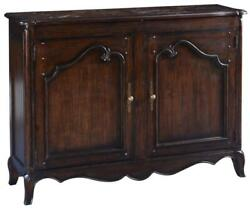 Sideboard French Country Farmhouse Parquet Top Scalloped Raised Panel Doors