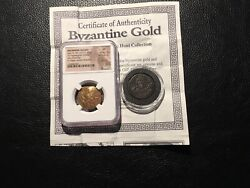 Byzantine-nicaea Johniii Ad Gold And Bronze Coin Ngc Xf With Cert.papers 2 Coins