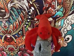 🦞😍 Pinchers The Lobster Beanie Baby 1993 🦞❤️retired❤️rare❤️