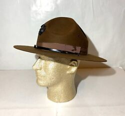 Wool Military Campaign Broner Hat, Drill Instructor Hat Mountie Ranger Hat Nice