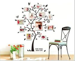 Wall Tree Sticker Removable Decal Family Quote Frame Frames Vinyl Decor Home H