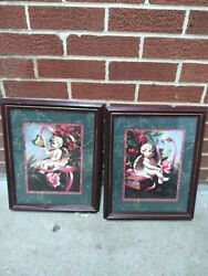 Rare Vintage And Original Home Interior Small Angel Pictures