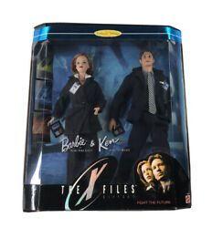 Mattel Barbie Ken The X-files Gift Set Fight The Future Mulder Scully New
