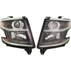 Pair Set Of 2 Headlights Lamps Left-and-right For Chevy 84582572 84294342 Tahoe