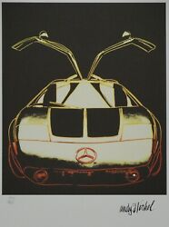 Andy Warhol And039mercedes C111and039 Signed Lithograph Limited 1000 Pcs.