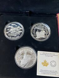 Canada 2021 5oz Silver 50 3 Coin Set First 100 Years Confederation Trains Boat