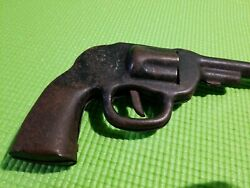Antique Vintage Tin Metal Toy Gun Late 1900and039s Replica