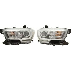 Pair Set Of 2 Headlights Lamps Left-and-right 8115004261 8111004261 Lh And Rh