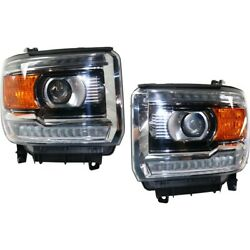 Pair Hid Headlights Lamps Set Of 2 Left-and-right Hid/xenon Lh And Rh For Gmc