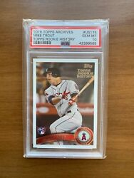 2018 Topps Archives Mike Trout Rookie History Us175 Gem Mint Psa 10 Very Rare