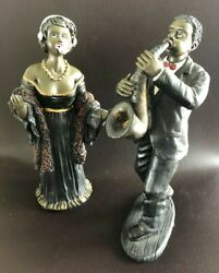 Lot Of Jazz Band Players With Lead Singer And Saxophonist Figurines Vintage