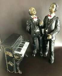 Lot Of Jazz Band With Choir Singers And Piano Figurines Vintage