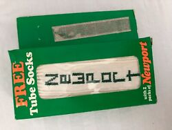 Vtg 80s Men's Newport Cigarettes White Tube Socks IN BOX