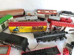Vintage Lot Of Tyco Trains Santa Fe, Baby Ruth, Old Dutch Cleanser And More