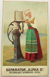 Delaval Cream Separator Columbian Exposition 1893 Large Trade Card W Dutch Girl