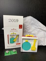 Hallmark 2019 Music Box Record Player Fisher Price Ornament Plays 3 Songs New