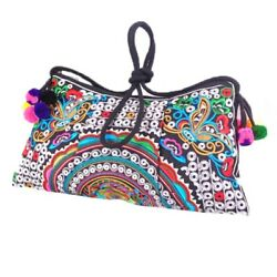 Double Face Embroidery Shoulder Bags Crossbody Messenger Bags Clutch Handbags $7.39